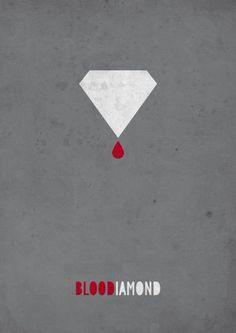 minimal movie poster blood diamond