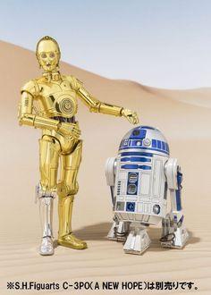Bandai S.H.Figuarts Star Wars C-3PO & R2-D2 SET (A NEW HOPE) Japan version #Bandai