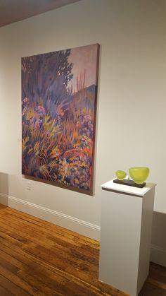 """""""Bright Prairie"""" installed, #ArtProvGallery show """"Land, Sea, Sky"""" wirh glass artist #Adamwaimon"""