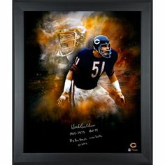 Dick Butkus Chicago Bears Framed Autographed 20'' x 24'' In Focus Photograph with Multiple Inscriptions-#51 of a Limited Edition of 51