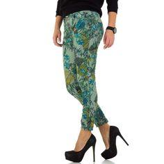 Blugi verzi femei Parachute Pants, Harem Pants, Mall, Floral, Fashion, El Paso, Moda, Harem Trousers, Fashion Styles