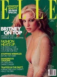 Britney Spears - on the cover of Elle magazine in October 2000 Britney Spears 2000, Elle Magazine, Magazine Covers, Vanity Fair, Marie Claire, Cosmopolitan, Beatles, Divas, Madonna Fashion