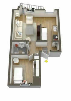 10 ideas for one bedroom apartment floor plans | home ideas