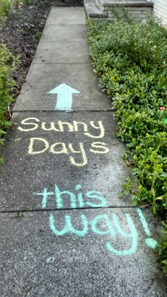 Sidewalk decoration inspired by Sesame Street's theme song