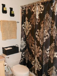 Our Damask Bathroom