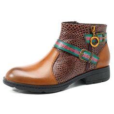 SOCOFY Women Casual Slip On Boots