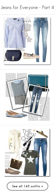 """""""Jeans for Everyone - Part 4"""" by miriam83 ❤ liked on Polyvore featuring Haute Hippie, Whiteley, H&M, Envi:, Jimmy Choo, Ultimate, Oris and AT-A-GLANCE"""