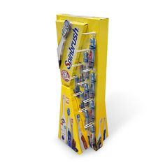 Creative Cardboard Floor Display for Toothbrush | Impact Display