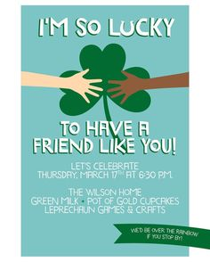Adults and kids alike will be celebrating St. Patrick's Day tomorrow. How fun will this after school get-together tomorrow be with friends for cupcakes and shamrock themed shenanigans! Message me if you have an upcoming party or event and want custom invitations and related party printables. #stpatricksday #shenanigans #michigan #mycreativebiz #partyideasgroup #partypeople #eventplanning #invitations #paper #potofgold #leprechaun #friends #paper #shamrocks #craftsposure #girlboss