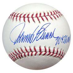 "Johnny Bench Autographed Official MLB Baseball Cincinnati Reds """"70 + 72 MVP"""" PSA/DNA Stock #28148"