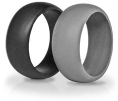 2 Silicone Wedding Rings, Tough Rings by KeepFit are great replacement wedding band for tungstung metal rings, crossfit, WOD, swimming, the beach, hiking, farming and any active lifestyle ** See this awesome image  : Weight loss Accessories