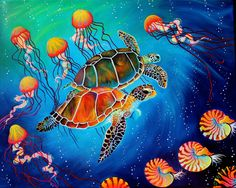 Sea Turtles Sold but contact for cards or prints!