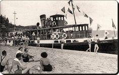 Göksu Vapuru ;Küçüksu Plajı'nda - 1940'lar