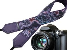 Nikon Accessories Cool Map Designs InTePro DSLR Camera Strap Card Sony Cameras Hypoallergenic Padded Straps with Strong Loop Ends for Canon Photography Safety Tether with Pocket for Lens