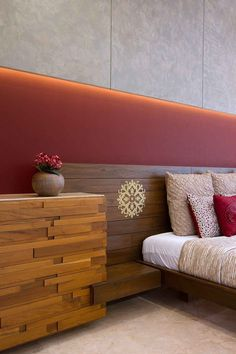 Neer Bungalow - Bedroom Designs by Usine Studio Decor, Furniture, Bedroom Red, Room Design, Bed Design, Master Bedroom Design, Home Bedroom, Bedroom Bed Design, Interior Design