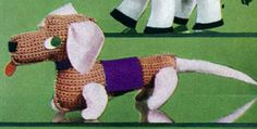 Dachshund Toy crochet pattern from Quick to Make Gifts, originally published by Coats & Clark's O.N.T., Book No. 318, from 1955.