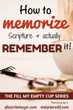 Memorizing more of the Bible is a goal for most believers. But, it seems so hard and cumbersome. How can we make it easier to do? This post will give you some very practical suggestions for how you can memorize scripture and actually remember it. Scripture Memorization, Scripture Study, Bible Scriptures, Bible Quotes, Inspirational Scriptures, Healing Scriptures, Irish Quotes, Bible Prayers, Heart Quotes
