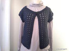 【編み図】ボレロ風のベスト – かぎ針編みの無料編み図 Atelier *mati*