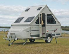 Small Rv, Small Campers, A Frame Trailer, Rv Trailers, Camping Trailers, A Frame Camper, Off Road Camping, Mini Camper, Teardrop Trailer