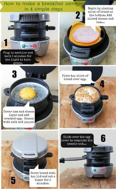 How to make a breakfast sandwich in 5 minutes...
