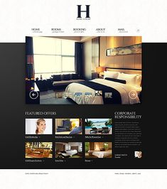 Template 43601 - Luxury Hotel Responsive Website Template with Intro Slideshow, Image Carousel, Drop-Down Menu and Optional Value-Adds