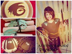 un anniversaire dragon - mes petites bidouilles DIY / how to train your dragon party