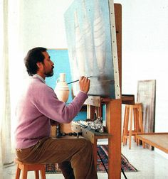 Claudio Bravo in his Tangier studio, in 1990. Photography by Roland Beaufre. #ClaudioBravoCamus