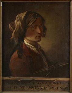 Joseph Marie Vien, l'Aîné   Autoportrait du peintre Joseph-Marie Vien jeune, exécuté à Rome en 1745 (1716-1809)   1745