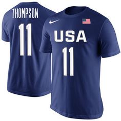 284cb4084 Klay Thompson USA Mens Nike Navy Player Tee