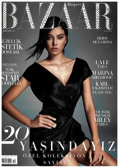 The cover of Harper's Bazaar Turkey is sparkling with Swarovski crystals!