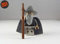 Gandalf LOTR Lego® Pendrive 8GB USB w BRICK CRAFT  #lego #pendrive #flash #minifigures Brick Crafts, Gandalf, Lotr, Usb Flash Drive, Gadgets, Etsy, The Lord Of The Rings, Gadget, Usb Drive