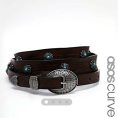 ASOS CURVE Studded Gem Waist And Hip Belt Never been worn. I believe this is an 18/20 US size. You can wear it on the waist or hips. So damn cute. NWOT, never worn. ASOS Accessories Belts