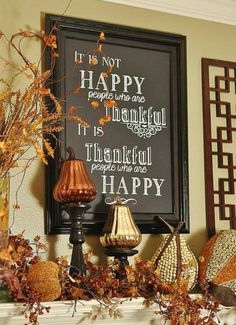 I love this for Autumn/Thanksgiving decorating.