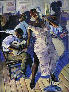 John Carroll Doyle, American Impressionist - Charleston Artist Black Artwork, Love Art, African American Artwork, African Art, Poster Ideas, Jazz Art, Blues Music, Music Artwork, Chicago Chicago