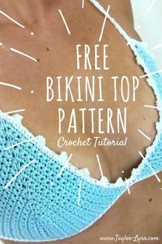 Simply Cute Crochet Bikini Top Pattern Free - Taylor Lynn