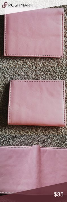 Womens Wallet Mens Wallet Pink Purse Card Holder Pink Wallet Men Purse Card Holder Women Wallet Hand Made Genuine Leather Bi fold  Unique feature - Color and style Size: Almost 8 inches length (opened) x 4 1/2 inches wide, Almost 4 inches (closed)  Color = Pink ( See the photos )  Hand Made Genuine Luxury Leather  Inside:  6 slots for credit/bank cards 2 separated slots for bills 2 Hidden pocket behind the credit/bank card slot  Weight = 1.6 Oz  Made in Pakistan Handmade Bags Wallets