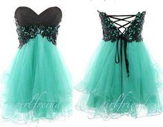 Tiffany Blue dress.<3