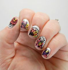 A And Her Polish The Digit Al Dozen Does Neon Splatter Stamp