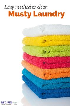 Clean Musty Laundry with This Easy Trick - Recipes with Essential cup baking soda drops Purification essential oil normal amount of laundry detergent (see our Liquid Laundry Detergent recipe! Essential Oils For Laundry, Essential Oil Cleaner, Young Living Essential Oils, All Natural Cleaning Products, Diy Cleaning Products, Cleaning Solutions, Cleaning Fun, Cleaning Recipes, Purification Essential Oil