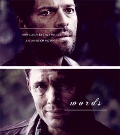 how can it be that we can say so much without words #spn #destiel