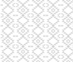 Navajo - Gray fabric by kimsa on Spoonflower - custom fabric - for curtains?