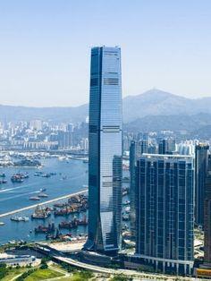 International Commerce Centre, Hong Kong. International Commerce Centre, Environment Map, Credit Suisse, Tower Design, Elevator, Architecture, San Francisco Skyline, Walks, Hong Kong