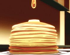 Anime Food // pancakes