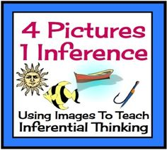 This unique activity is a fun way to get your students thinking inferentially. The students will be required to look at 4 pictures and infer meaning from them using their schema/background knowledge.