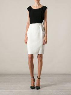 Lanvin Colour Block Shift Dress - Vitkac - Farfetch.com