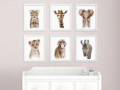 New to TinyToesDesign on Etsy: African Baby Animal Nursery Print Set Safari Nursery Art Prints Animal Art Baby Elephant Giraffe Monkey Cheetah Lion Zebra (81.00 USD) #nurseryart #tombowpro