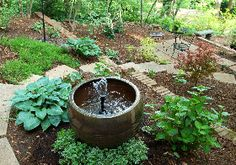 Instructions on how to make your own fountain using a glazed container.