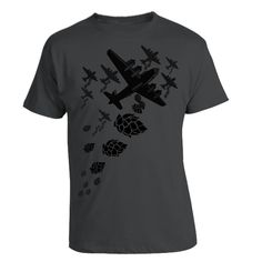 Hop Bomber T-shirt for Craft Beer lovers and Homebrew Geeks