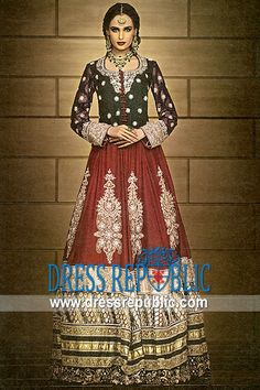 Bordeaux Cheville, Product code: DR9729, by www.dressrepublic.com - Keywords: Pakistani, Indian Bridal Dresses Shops in San Jose, Santa Cruz, Salinas, Sunnyvale California