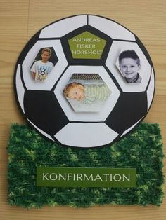 Telegram til konfirmation Soccer Ball, European Football, Soccer, Football